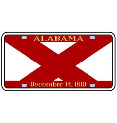 Alabama license plate vector