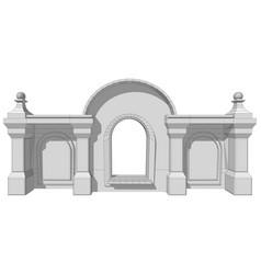 Architectural roof element vector