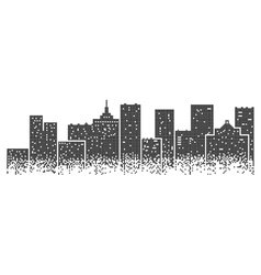 Big modern city vector