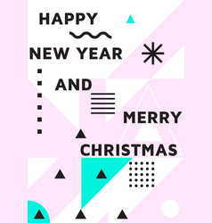bright festive new year poster vector image vector image