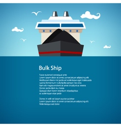 Bulk ship poster brochure vector