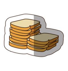 Color white bread icon vector