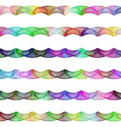 Colorful ornamental line divider design set vector