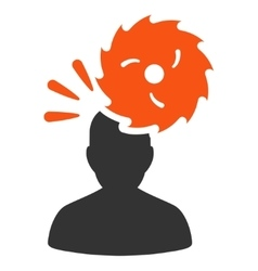 Destroy person flat icon vector