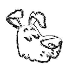 dog pet cartoon vector image