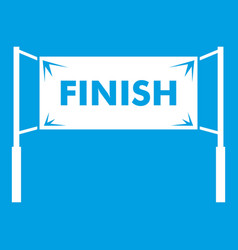 Finish line gates icon white vector