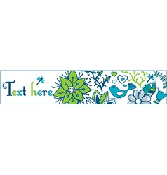 Floral banners stylish floral banners set of four vector image