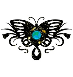 Gallaxy on butterfly vector
