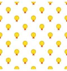 Gold medal pattern cartoon style vector