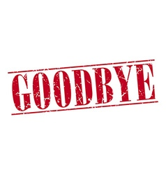 Goodbye red grunge vintage stamp isolated on white vector