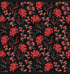 hand drawn floral pattern seamless texture vector image vector image