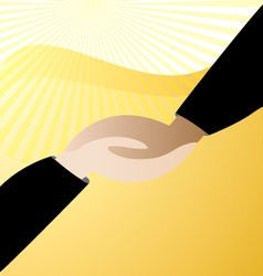 Handshaking business logo vector image vector image