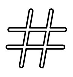 Hashtag black color icon vector