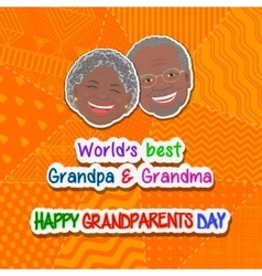 International grandparents day vector image