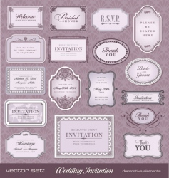 invitation design elements vector image