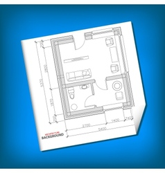 New architecture plan vector image vector image