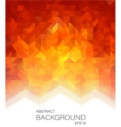 Red low poly style letterhead graphic design vector image vector image