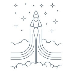 Rocket start up design vector image vector image