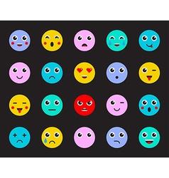 Set of emoticons or emoji vector