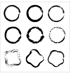 Set of Hand Drawn Scribble Circles design vector image