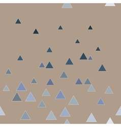 Triangle blue seamless pattern vector