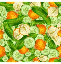 Vegetables seamless background vector image vector image