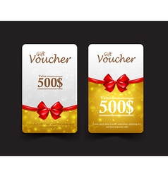 Collection of christmas gift voucher tag banner vector