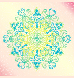 mandala floral vintage round amulet tatoo vector image