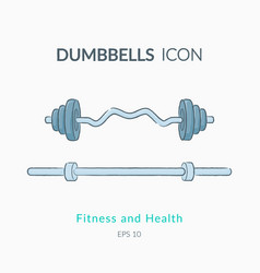 Dumbbell icons isolated on white vector