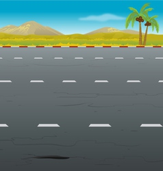 Highway background vector