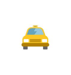 Flat taxi element of flat cab vector