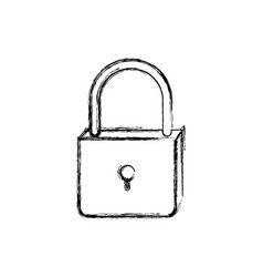 Monochrome blurred silhouette of padlock icon vector