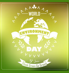 World environment day background with shape typogr vector