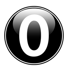 Number zero button vector