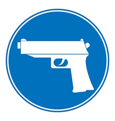 Gun allowing sign vector