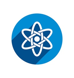 Atom part on white background icon vector