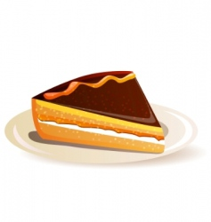 orange cake vector image