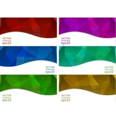 Abstract banners collection vector