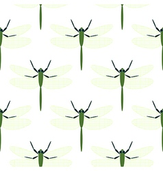 Seamless pattern with dragonflies vector