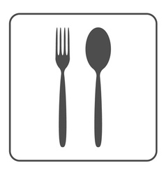 spoon and fork icon vector image
