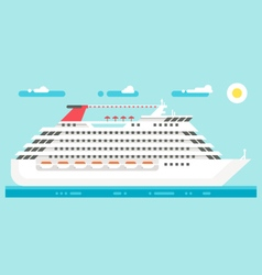 Flat design luxury cruise vector
