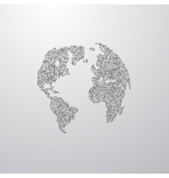 A world globe map vector