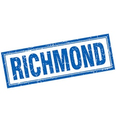 Richmond blue square grunge stamp on white vector