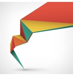 Abstract low poly style vector image vector image