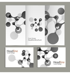 abstract molecular structure Cover vector image