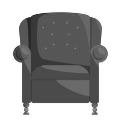 Armchair icon black monochrome style vector