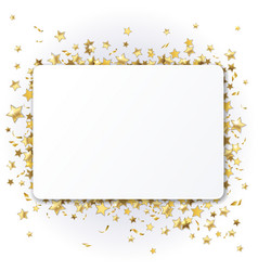background with twinkling stars vector image