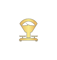 balance computer symbol vector image