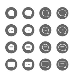 basic speech bubble shape icons set vector image