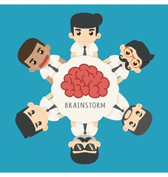 Businessman brainstorm eps10 format vector image vector image